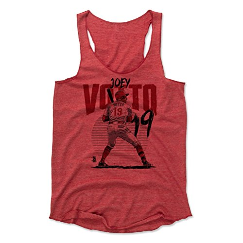 500 LEVEL Joey Votto Women's Tank Top X-Large Red - Cincinnati Baseball Women's Apparel - Joey Votto Rise R