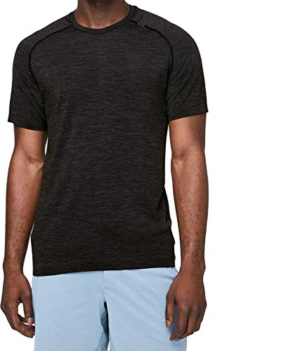 Lululemon Mens Metal Vent Tech Short Sleeve Shirt (XL, Deep Coal Black)