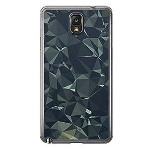 Loud Universe Samsung Galaxy Note 3 Geometrical Printing Files A Geo 11 Printed Transparent Edge Case - Green