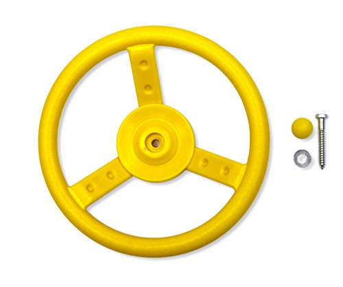 Eastern Jungle Gym Plastic Toy Steering Wheel Swing Set Accessory for Wood Backyard Play Set, Yellow (Toy Plastic Wheels)