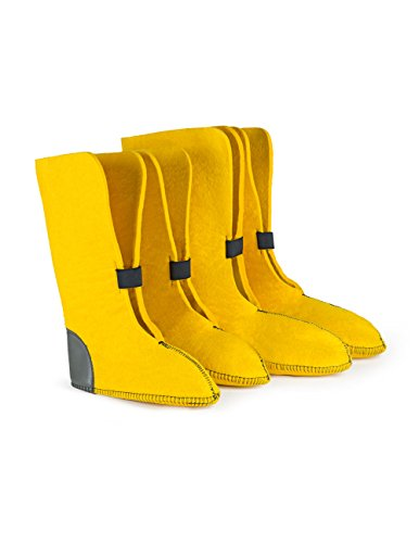 Boot Liners 626Y Eco-Friendly 50% Wool, Yellow, 13' Height, Size 13