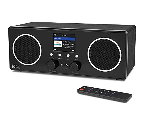 """Ocean Digital WiFi/DAB/FM Internet Stereo Radio WR280S with Bluetooth Receiver, Remote APP Control, Aux in, Line Out, UPnP/DLNA, Wooden Casing, 2.8"""" Color Display"""