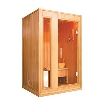 Erstaunlich traditionelle finnische sauna zen fuer 2 personen: Amazon.de: Garten DN75