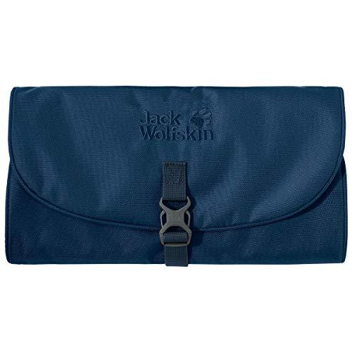 Jack Wolfskin Mini Waschsalon Small Roll-Up Wash Toiletry Bag Dopp Kit with Mirror, Poseidon Blue ()