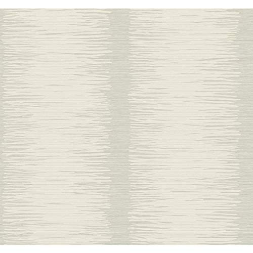 - Seabrook Wallpaper in Metallic Silver, White SH70600