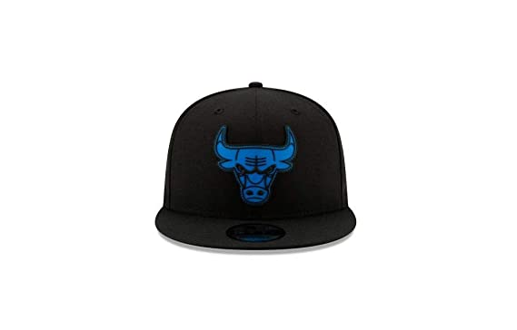 328528bfad3d63 New Era NBA Chicago Bulls Neon Pop 9FIFTY Snapback (Black/Black/Blue ...