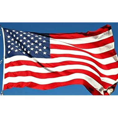 American Flag: Premium US Flag 100% Made in USA. Embroidered Stars and Stripes. 3x5 ft - Display with Pride on July 4th