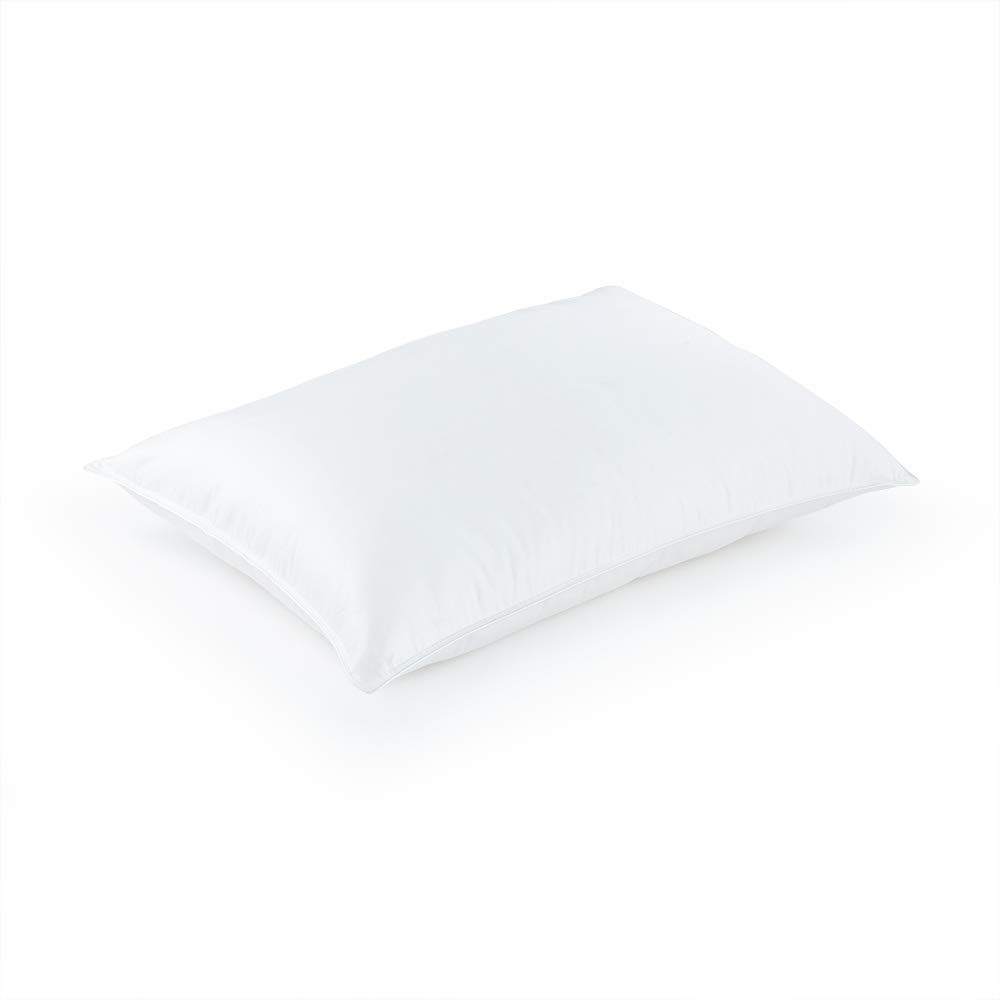 DOWNLITE Luxury White Goose Down Pillow - Soft Density - Hotel Like Luxury Bedding Collection - Hypoallergenic 600 Fill Power Down (Queen 20'' x 30'')