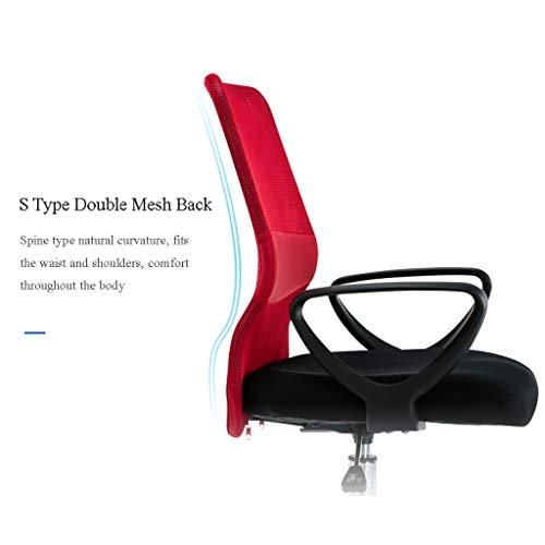 Kontorsstol, ergonomisk design, ger dig den bekvämaste upplevelsen, datorstol i tre färger att välja mellan (färg: A)