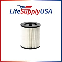Washable Wet Dry Filter fits Rigid VF4000 Models 5 - 20-Gallon 72947 fits all Husky vacs 6 to 9 Vacuum by LifeSupplyUSA