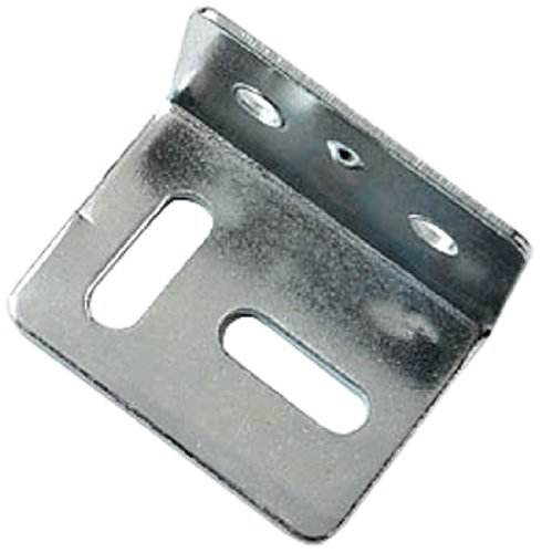 Bulk hardware BH01682 38mm (1.1/2 inch) Square Cranked Stretcher Plate BZP- Pack of 10