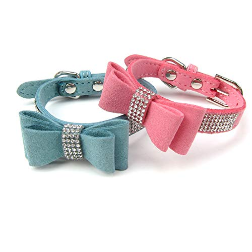 Couture Embellished (Alfie Pet by Petoga Couture - True Adjustable Rhinestone Collars 2-Piece Set - Size: Small)