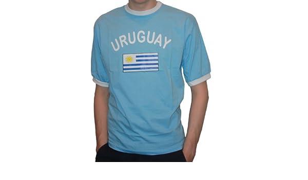 Brubaker hombres o mujeres Uruguay Fan T-Shirt azul Talla S - XXXL: Amazon.es: Deportes y aire libre