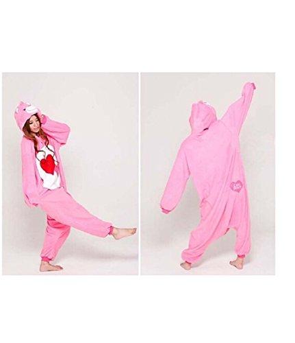 Mcdslrgo adulto Unisex Onesies Traje de Cosplay pijamas Sleep Wear para Navidad Halloween regalo Rosa