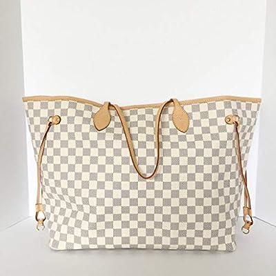 cb3f551657ac Neverfull Style Canvas Woman Organizer Handbag Azur Tote Shoulder Fashion  Bag GM Size by LAMB