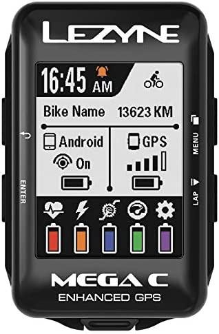 LEZYNE Mega C Bicicleta Negro rastreador GPS - Rastreadores GPS (5,59 cm (2.2