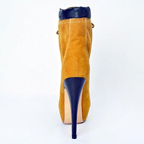 Da Dimensioni 5cm Marca Donna Alta Xd154 Moda Stivali Caviglia Scarpe Piattaforma Heels14 Più Pelle Garlos Di In f5xzA4aqw