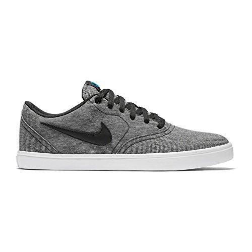 Nike Men's SB Check Solarsoft Canvas Skate Shoe (10.5 D(M) US, Grey/Black/Photo Blue/Black) (Canvas Shoes Check)