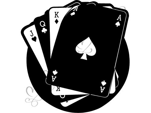 - Yetta Quiller Playing Card Poker Spades Playing Card Game Royal Flush Playing Casino Leisure Games Vector Clipart Digital Circuit Vinyl Wall Decor Cutting