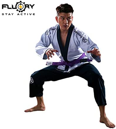 FLUORY Lightweight BJJ Gi,Brazilian Jiu Jitsu Uniform for Men