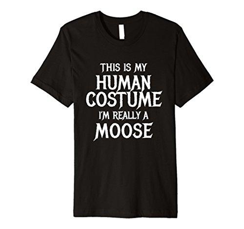 Male Moose Costume (Mens Moose Costume Halloween Shirt for Funny Kids Men Women 3XL Black)