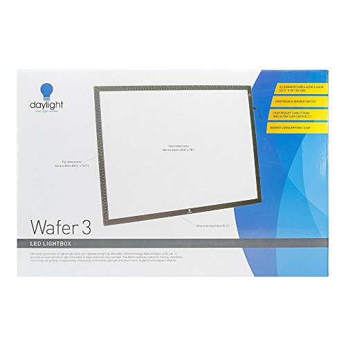 Daylight Wafer 3 LED Lightbox, 18X23.5 inches, Black