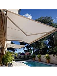 Strong 16u0027w X 11.5u0027d Outdoor Patio Cover Yard Awning Retractable Sun Shade  Shelter