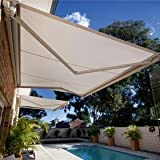 STRONG 13'w x11.5'd Outdoor Patio Cover Yard Manual Awning Retractable Sun Shade Shelter Color Tan