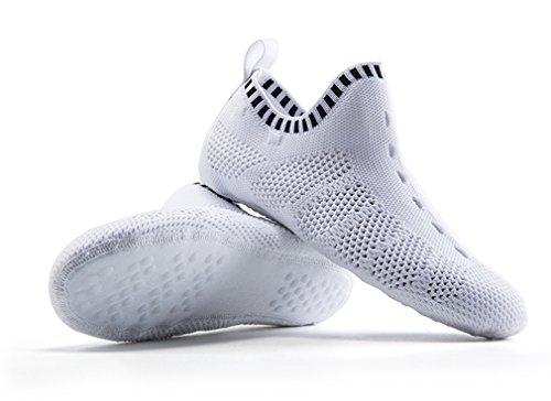 Sneaker Orignal Like 3D Negro Design Sock Slipper Indoor Gym Knit Yoga Blanco FSpCFx