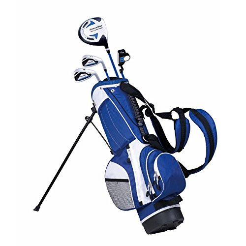 PowerBilt Junior Kids Boy's Ages 5-8 Golf Club Set, Left Hand Hand, Blue