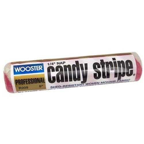 wooster-brush-r209-9-candy-stripe-roller-cover-1-4-inch-nap-9-inch