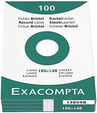 liniert Karton 205 g//m/² A6 wei/ß 100 St/ück Sie erhalten 1 Packung /á 100 St/ück EXACOMPTA Karteikarte