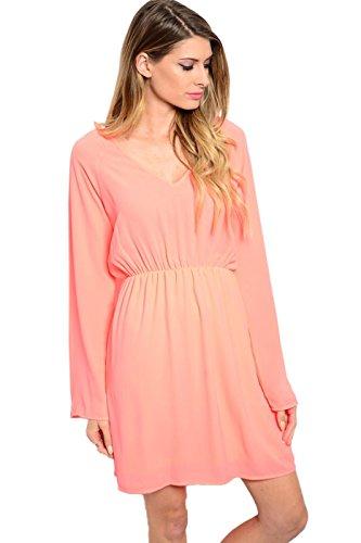 orange 70s dress - 9