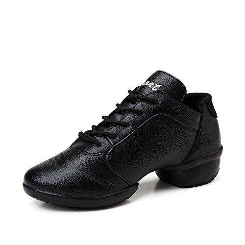 SQIAO-X- Scarpe da ballo Kraft fascetta in gomma antiusura traspirante imbottitura, Square Dance Dance Latina Professional scarpe da ballo, bianco filato netto,39