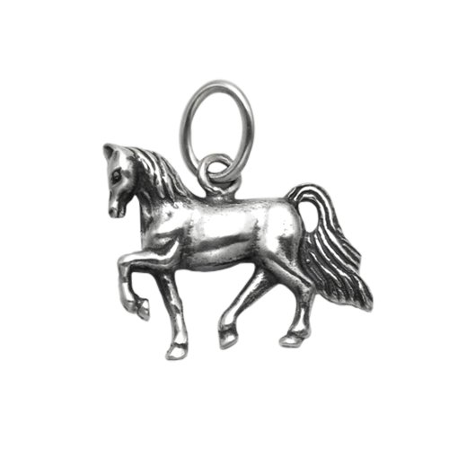 (Wildthings Ltd Sterling Silver Prancing Horse Pendant)