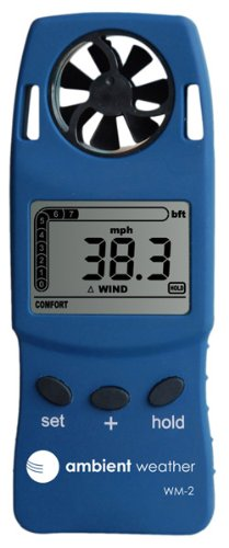 Ambient Weather WM-2 Handheld Weather Meter with Windspeed/Temperature and Wind Chill