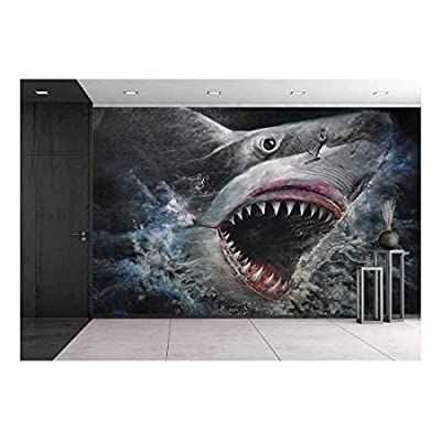 Unbelievable Composition, Painting 3d Sharks, Created Just For You