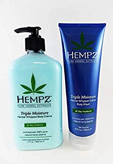 product image for Hempz Triple Moisture Whipped Body Creme, 17 Oz & Whipped Creme Body Wash, 8.5 Oz Set Pack Of 2, 17 Oz