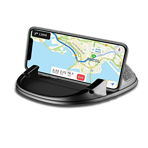 KATEVO Car Cell Phone Holder Anti-Slip Silicone Dashboard Car Pad Mat Vehicle GPS Mount Universal Fit All Smartphones