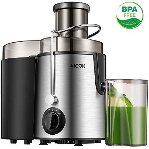 Juicer Centrifugal Juicer Machine Wide 3″ Feed Chute Juice Extractor Easy to Clean, Fruit Juicer with Pulse Function and Multi Speed control, Anti-drip , Stainless Steel BPA-Free