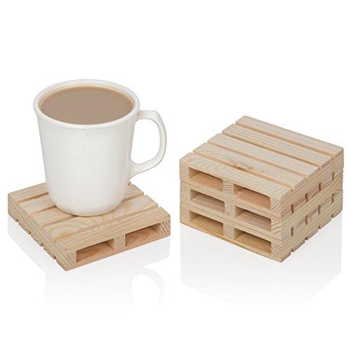 Brilliant - Mini Wood Pallet Drink Coasters, Set of 4
