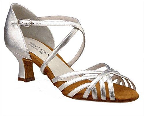 Anna Kern Argent 50 Chaussures 5 908 Cuir Danse de cm Femmes ZZrd1wq