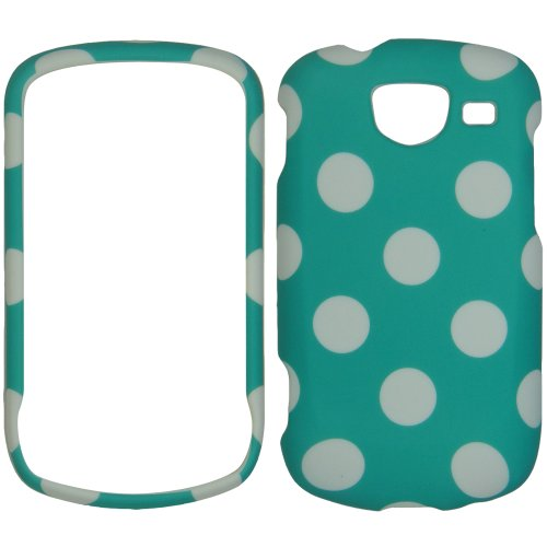 Samsung Brightside U380 Turquoise Polka Dot Skin Hard Case/cover/faceplate/snap - Faceplates Turquoise