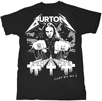 Cliff Burton Master of Puppets Metallica Oficial Camiseta para Hombre: Amazon.es: Ropa y accesorios