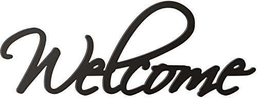 P. GRAHAM DUNN Welcome Script Black 10.25 x 27 Wood Cutout Wall Word ()