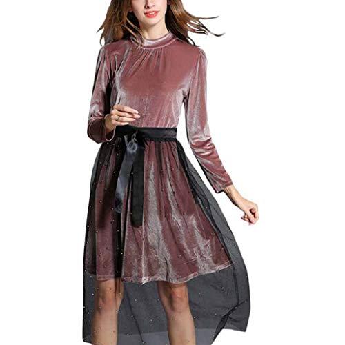 Creazrise Women's Sexy Tulle Sheer Elastic High Waist A Line Pearl Yarn Mesh Skirt Maxi (Black,2XL) -