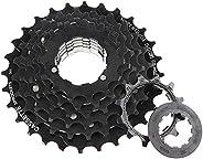 7 Speed Freewheel Bicycle Cassette Multiple Freewheel Bike Sprocket 14-28 Teeth 12-14-16-18-21-26-28T for Moun