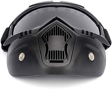 Boonie Moto Casque Lunettes d/équitation Masque d/étachable Des lunettes de protection Ajustable Antid/érapant Pour Course de moto