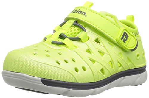- Stride Rite Made 2 Play Phibian Sneaker Sandal Water Shoe (Toddler/Little Kid/Big Kid), Citron Metallic, 11 M US Little Kid