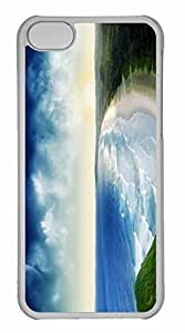 iPhone 5C Case, Personalized Custom Wild Beach for iPhone 5C PC Clear Case
